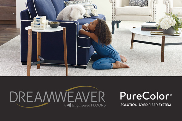 Dreamweaver Engineered Floors. PureColor Solution-dyed fiber system. Find this carpet at Floors To Go of Virginia Beach