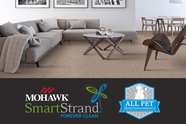 Stop by Floors To Go in Virginia Beach to browse our Mohawk SmartStrand Forever Clean carpet